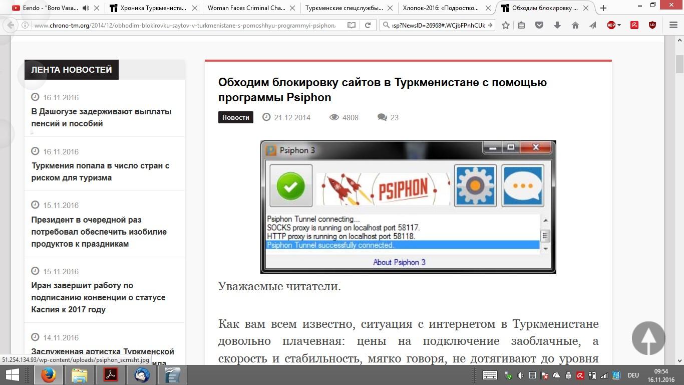 Pressefreiheit in Turkmenistan