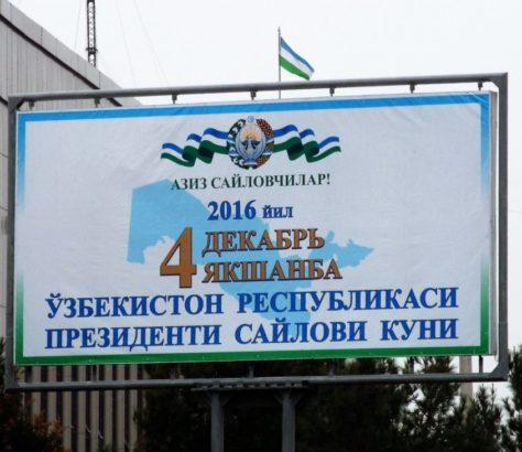 Wahlplakat Usbekistan