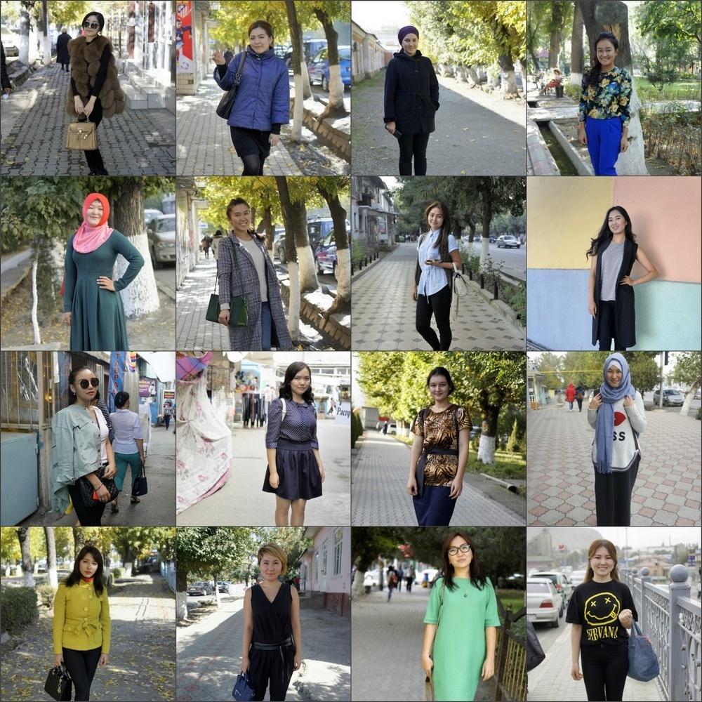 16 Frauenporträts aus Osch Kirgistan