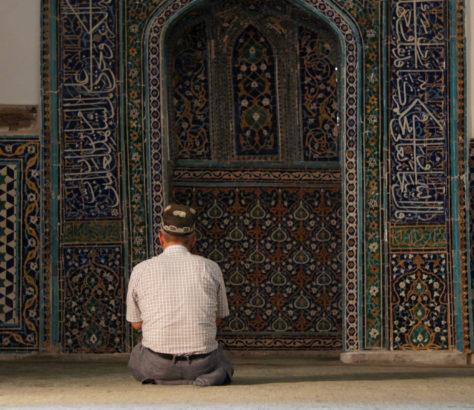 Mann Samarkand Gebet