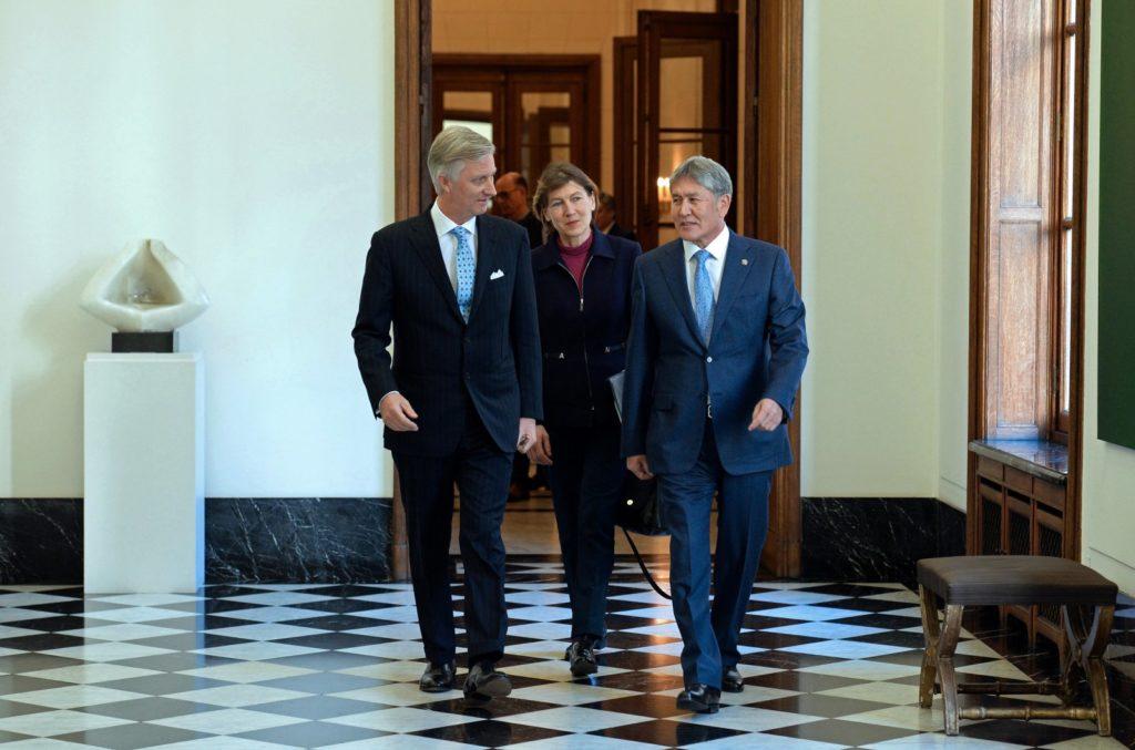 Atambajew mit dem belgischen König Philippe
