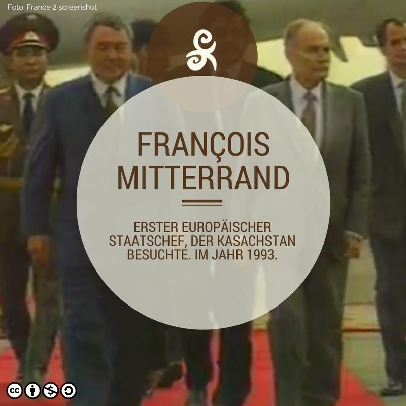 François Miterrand in Kasachstan