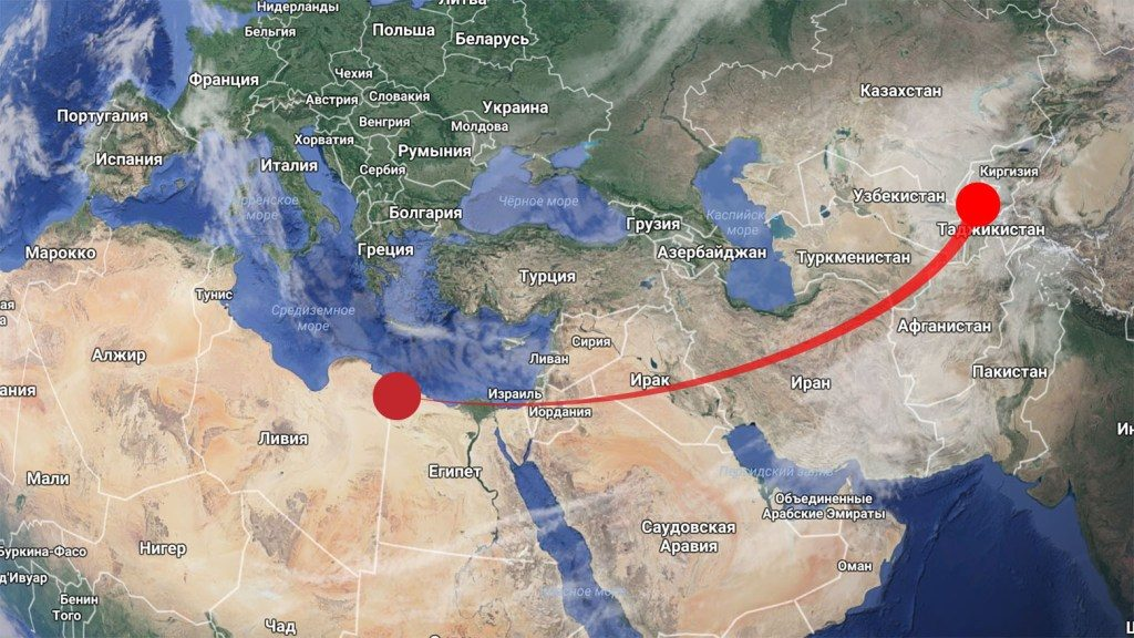Wind von der Sahara nach Tadschikistan