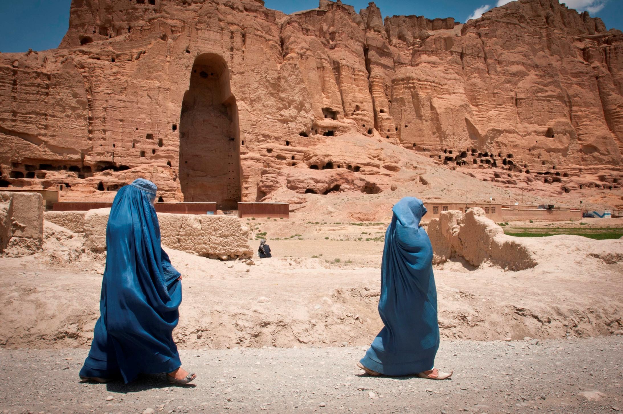 Die von den Taliban zerstörten Buddha-Statuen von Bamiyan.