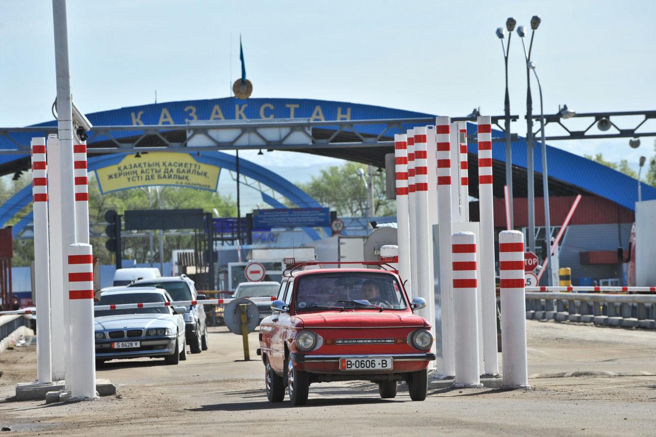 Grenze Kasachstan Kirgistan