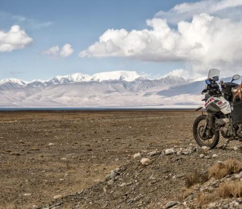 Motorrad Tadschikistan Kara-kul Berg
