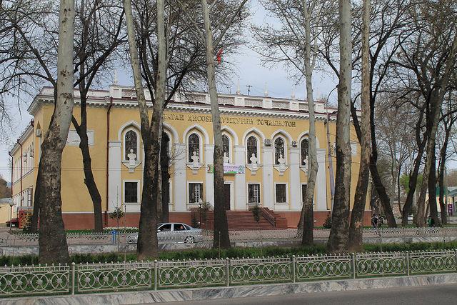 Eine Straße in Duschanbe (Foto Robert Wilson)
