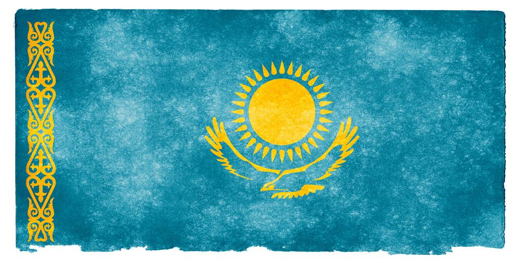 Die kasachische Flagge