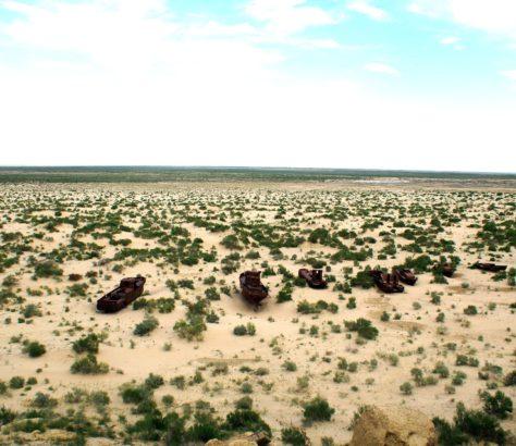 Der Aralsee in Usbekistan
