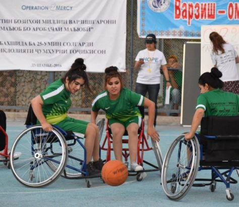 Basketballerinnen in Tadschikistan