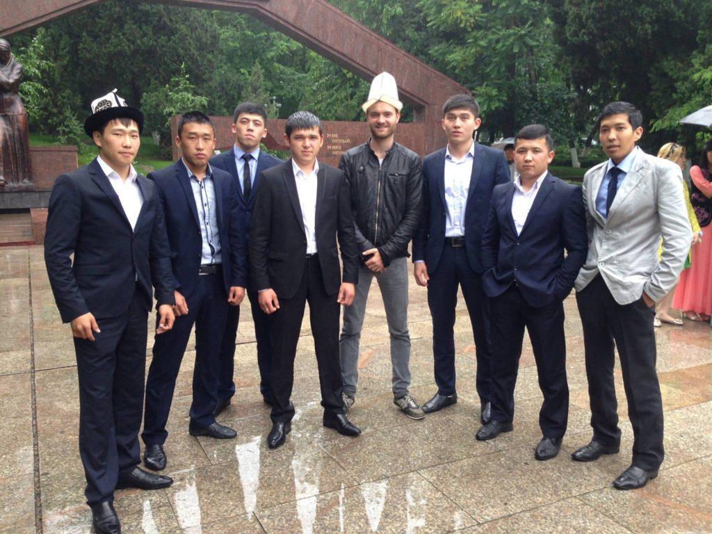 Menschen Kirgistan Hochzeit Osch