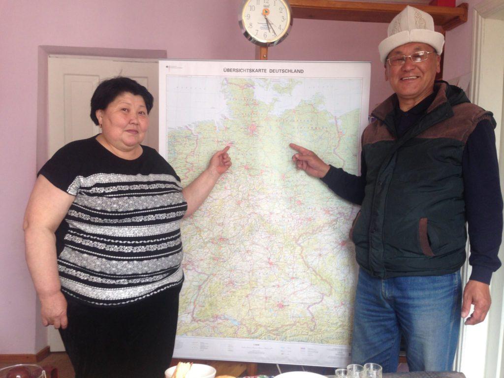 Menschen Kirgistan Lehrer Rot Front