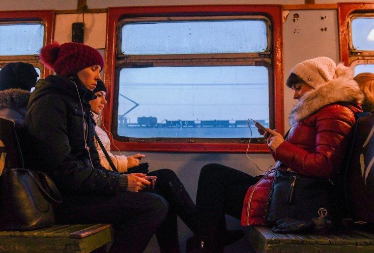 Stepnogor Kasachstan Zug Passagiere