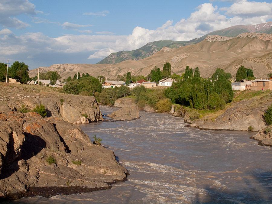 Naryn Kirgistan Fluss Wasser