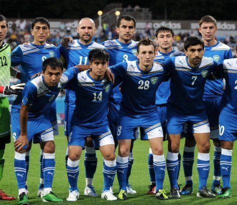 Fussball Mannschaft Usbekistan