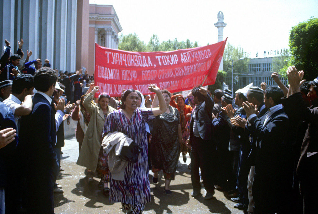 Frauen Demonstrarion Duschanbe 1992