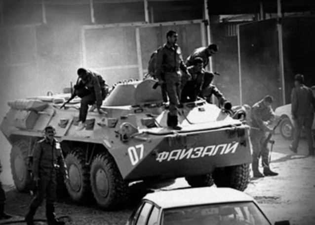 Soldaten Russische Spezialkräfte Tadschikischer Bürgerkrieg