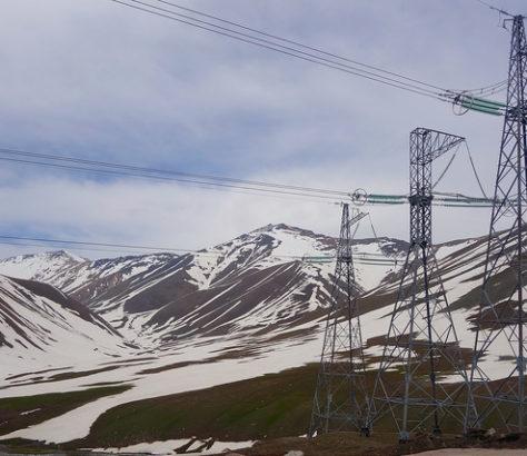 Elektrizität Strom Kirgistan Strommasten