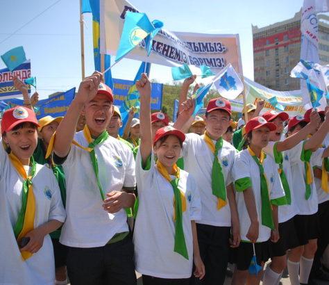 Aktöbe Dschas Otan Jugendbewegung Ereignis Kasachstan