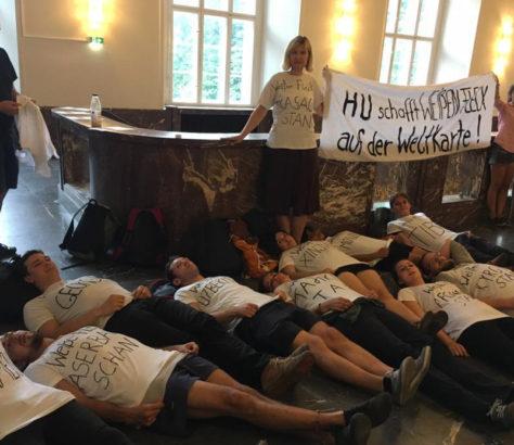 Zentralasienseminar Studenten Protest Weißer Fleck Zentralasien Humboldt Universität