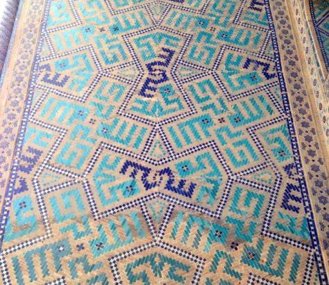 Mosaik Registan Samarkand Usbekistan