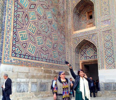Samarkand Usbekistan Registan Treffpunkt Tourismus