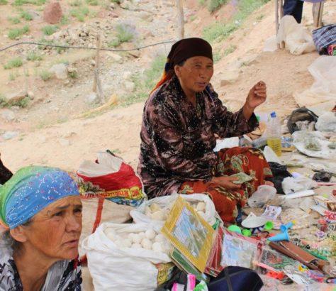 Markt Kachkardarja Usbekistan Verkaüferin