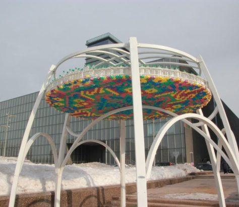 Kasachstan Astana Expo Kioskstand