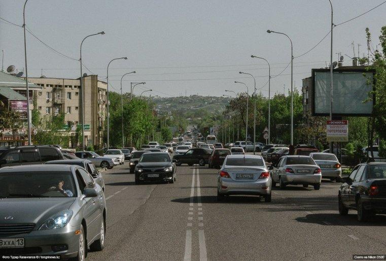Straße Schymkent