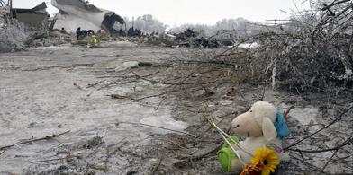 Dacha SU Manas Bishkek Flugzeugabsturz Absturz