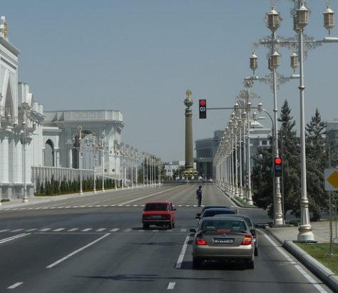 Turkmenistan Aschgabat Straße