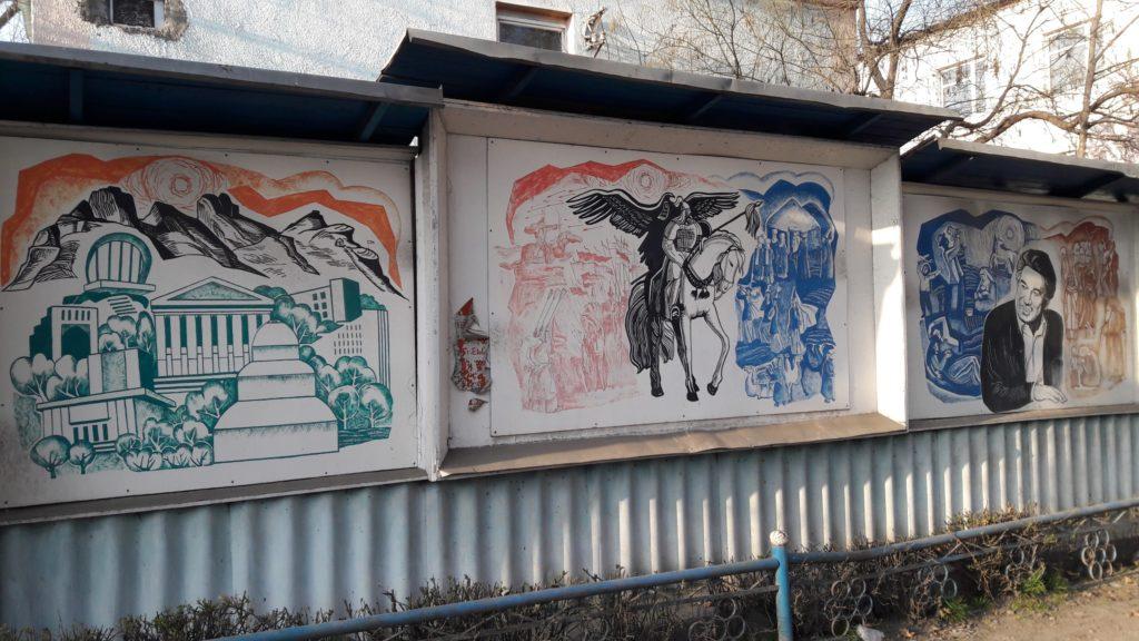 Malerei Osch Straßenkunst Manas Aitmatow