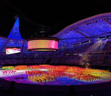Aschgabat 2017 Turkmenistan Eröffnungszeremonie Asiatische Spiele