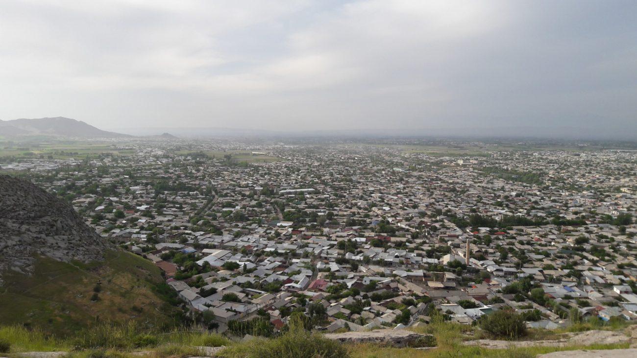 Osch Sulejman Too Ausblick Norden Kirgistan Usbekistan Grenze