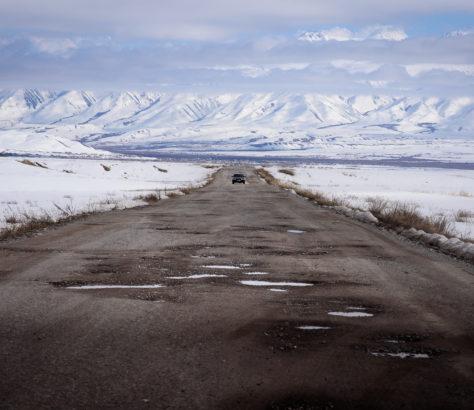 Bergstraße in Kirgistan