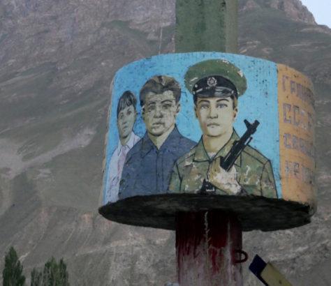 Denkmal Chorugh Berg Badachschan Sowjetunion Grenzbeamten