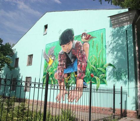 Graffiti Straßenkunst Bischkek Kirgistan