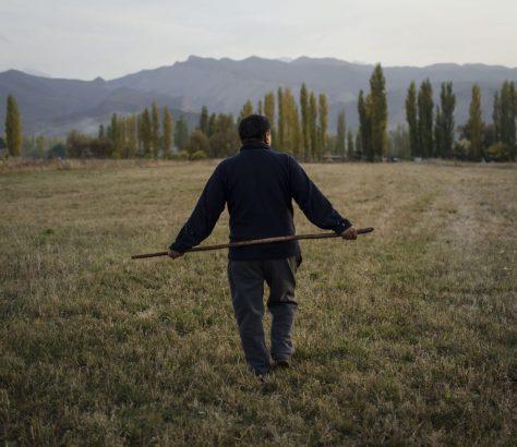 Wahl Dorf Feld Bauer Kirgistan