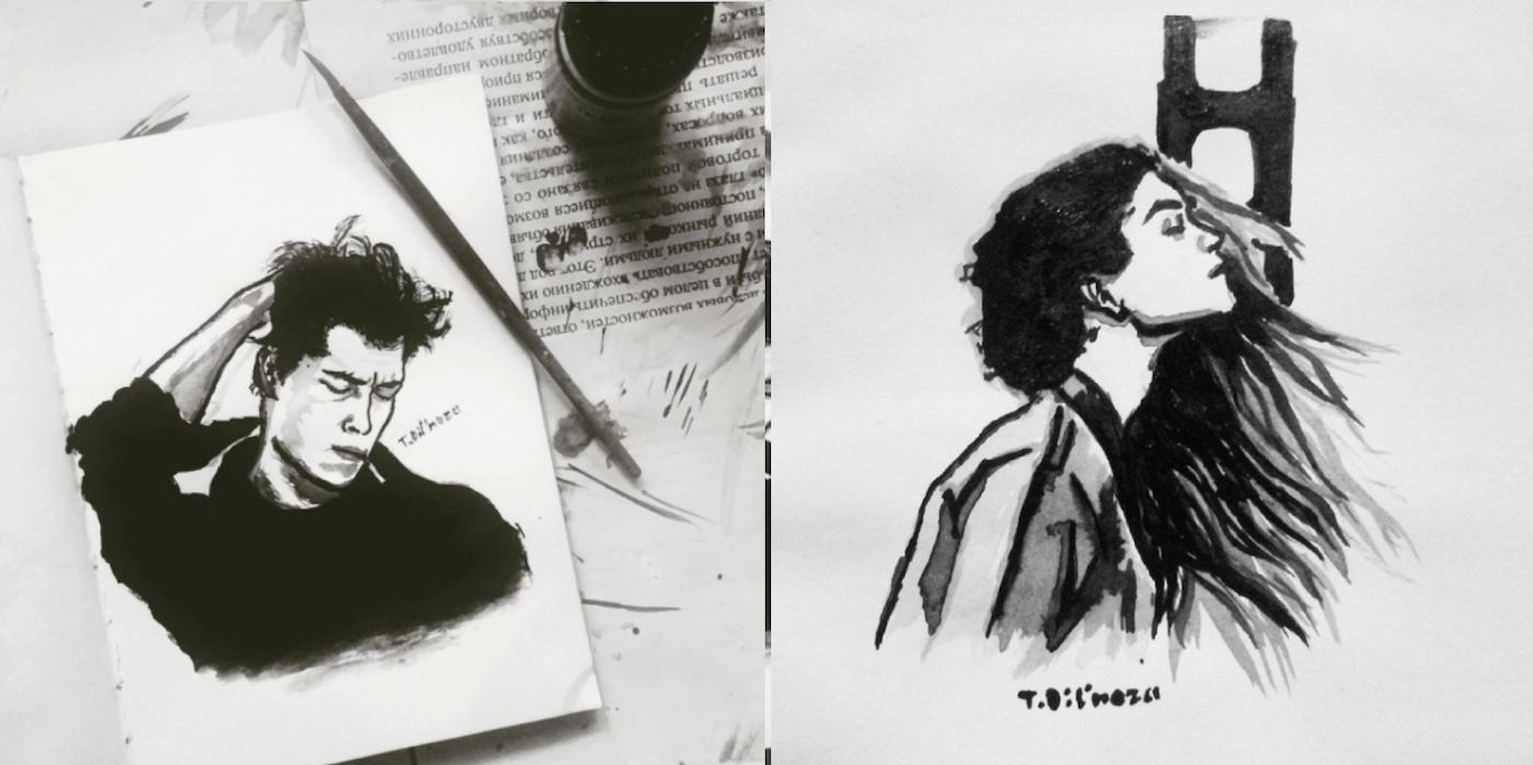 Portraits Tusche Tasheva Dilnoza