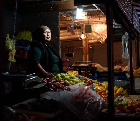 Auf dem Osch-Basar in Bischkek