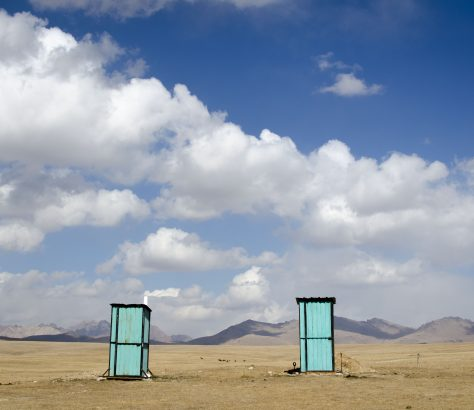 Toiletten Nomaden Kirgistan Song-Köl