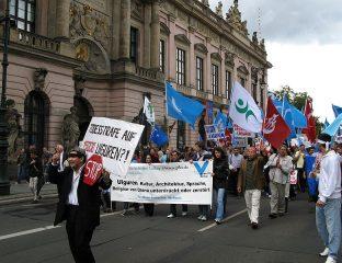 Demonstration Berlin für die Rechte der Uiguren
