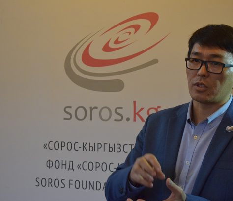 Wikipedia auf Kirgisisch Tschorobek Saadanbek