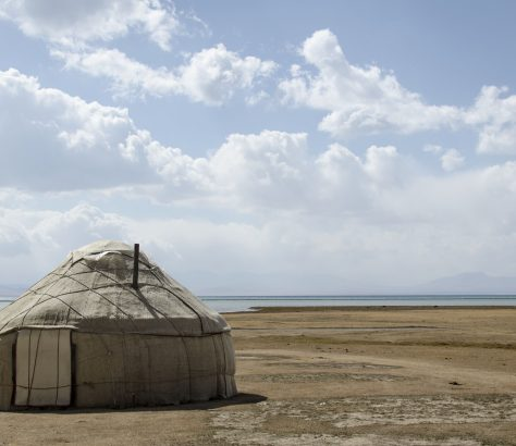 Yurt Kirgistan Song-Köl Nomaden See