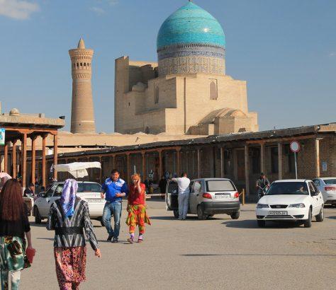 Minaret Moschee Buchara Mir-Arab-Madrasa