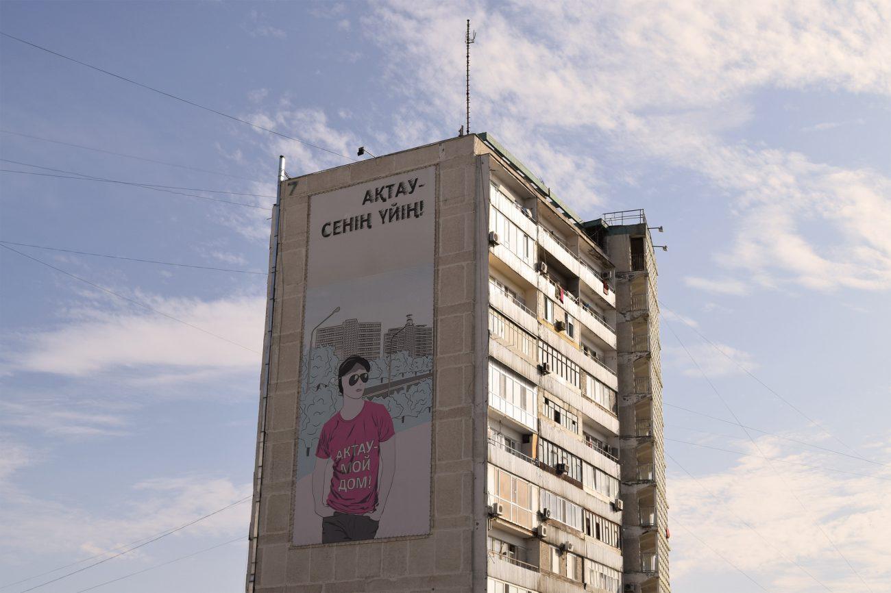Aktau Kasachisch Kasachstan Fassade