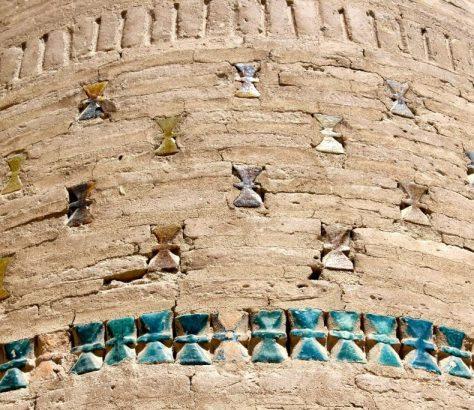 Gebaüde Chiva Choresm Usbekistan Keramiksanduhren