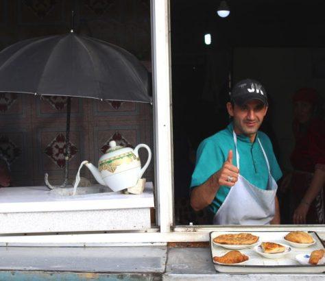 Tadschikistan Duschanbe Lebensmittel Frühstück