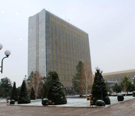 Usbekistan Samarkand Schnee Winter Regionalverwaltung