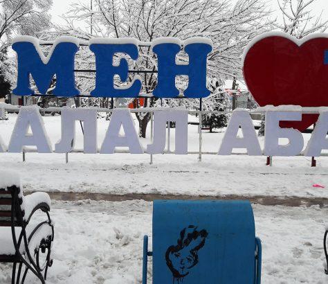 Dschalalabad Kirgistan I Love Ich Liebe Schnee